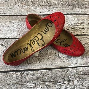Sam Edelman Leighton  Red Leather Flats, 8
